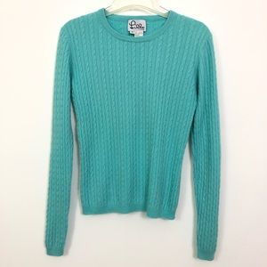 Lilly Pulitzer Cable Knit Cashmere Sweater